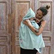 La Millou, Ręcznik Bamboo Soft - Newborn - Mint - Yoga Candy Sloth Pink