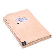 La Millou, Ręcznik Bamboo Soft - Newborn - Powder Pink - Manta Ray Purple