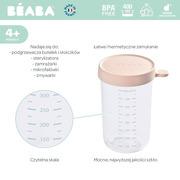 Beaba, Pojemnik słoiczek szklany z hermetycznym zamknięciem 400 ml pink
