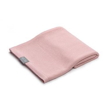 Memi, Bambusowy otulacz / lekki kocyk z jonami srebra 100x100 powder pink