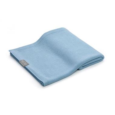 Memi, Bambusowy otulacz / lekki kocyk z jonami srebra 100x100 baby blue