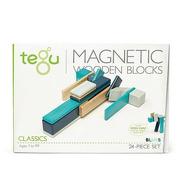 Tegu, Drewniane klocki magnetyczne CLASSICS zestaw 24szt Blues