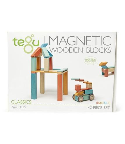 Tegu, Drewniane klocki magnetyczne CLASSICS zestaw 42szt Sunset