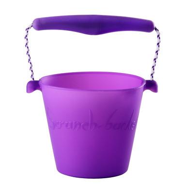 Zwijane silikonowe wiaderko fioletowe