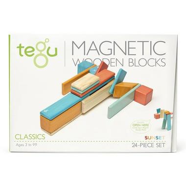 Tegu, Drewniane klocki magnetyczne CLASSICS zestaw 24szt Sunset