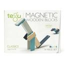 Tegu, Drewniane klocki magnetyczne CLASSICS zestaw 14szt Blues