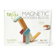 Tegu, Drewniane klocki magnetyczne CLASSICS zestaw 14szt Sunset