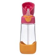 B.Box, Tritanowa butelka ze słomką 450 ml, strawberry shake