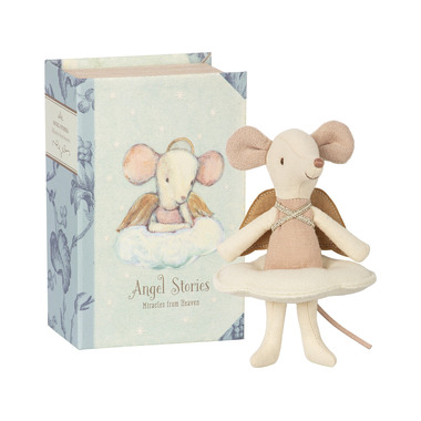 Maileg, Myszka - Angel mouse, big sister in book