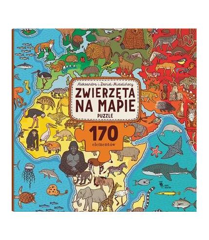 Dwie siostry, puzzle zwierzęta na mapie