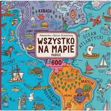 Dwie siostry, puzzle wszystko na mapie