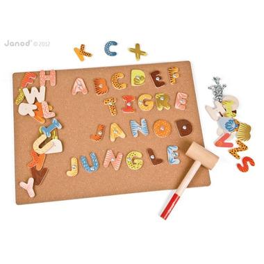 Janod, przybijanka Alfabet