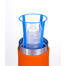 Duży termos do butelek i żywności (pomarańczowo-niebieski)