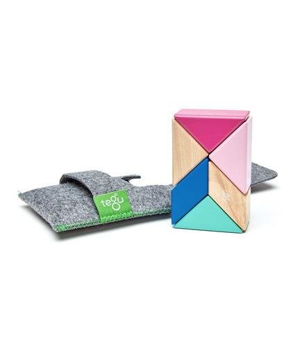 Tegu, Drewniane klocki magnetyczne POCKET POUCH PRISM 6szt Blossom