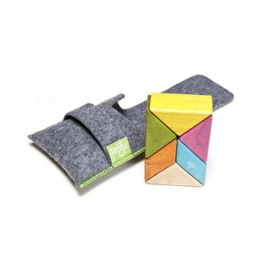 Tegu, Drewniane klocki magnetyczne POCKET POUCH PRISM 6szt Tints