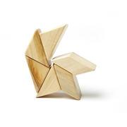 Tegu, Drewniane klocki magnetyczne POCKET POUCH PRISM 6szt Natural