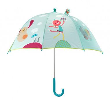 Lilliputiens, pies Jef, parasolka.