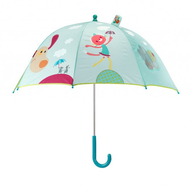 Pies Jef, parasolka.