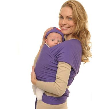 Chusta do noszenia dziecka Babywrap fioletowa