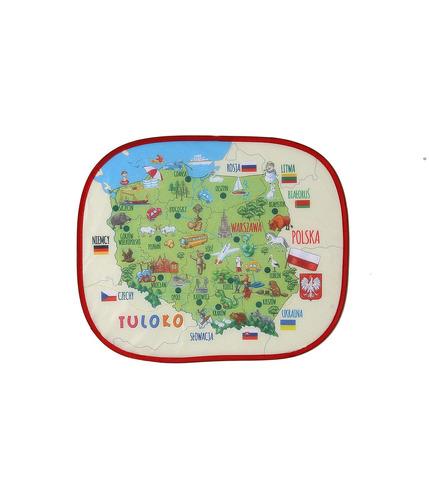 Tuloko, Elektrostatyczna Osłonka Z Mapą 2 szt.