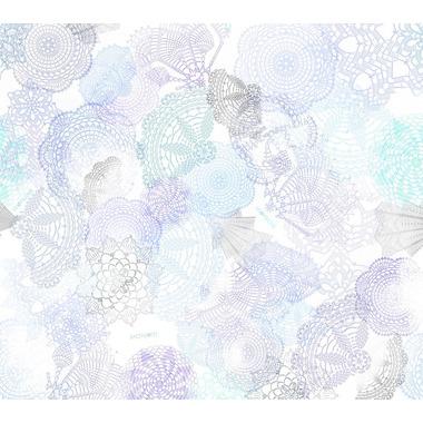 Poduszeczka bambusowa  - boho szaro-niebieski