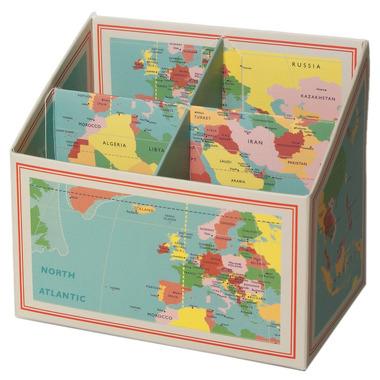 Pudełko na kredki Vintage Mapa Rex