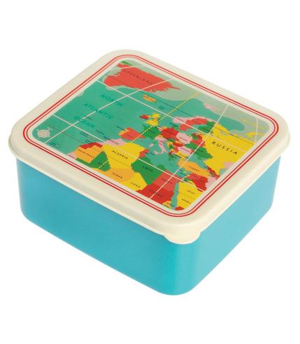 Pudełko na lunch Vintage Mapa Rex