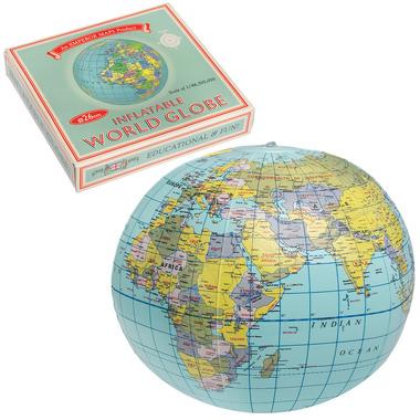 Nadmuchiwana Piłka Vintage Mapa Rex