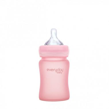 Everyday Baby, Szklana butelka 150ml (różany róż)