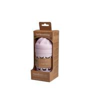 Herobility, Szklana butelka antykolkowa HeroEcoBottle - różowa, 220 ml