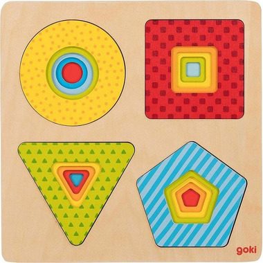 Goki, Drewniana układanka warstwowa Cztery kształty