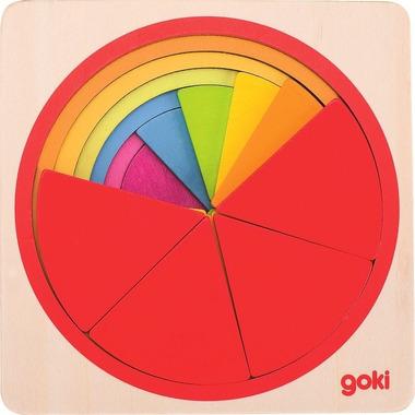 Goki, Puzzle warstwowe Tęczowe koło