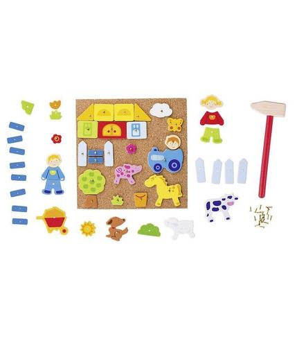 Goki, Elementy do przybijania na tablicy korkowej, farma, 52 części