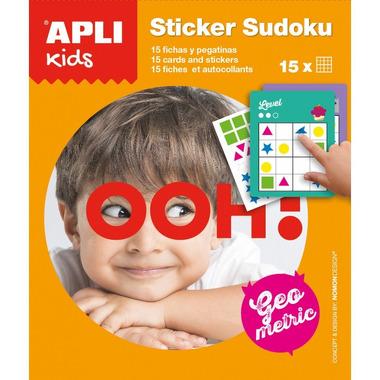 Apli Kids, Gra podróżna z naklejkami - Sudoku kształty