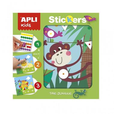 Apli Kids, Plansze do wyklejania Kolory i Kształty - Dżungla