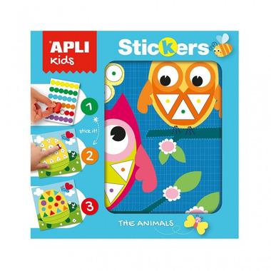 Apli Kids, Plansze do wyklejania Kolory i Kształty - Zwierzęta