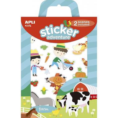 Apli Kids, Zestaw naklejek z 2 planszami - Farma