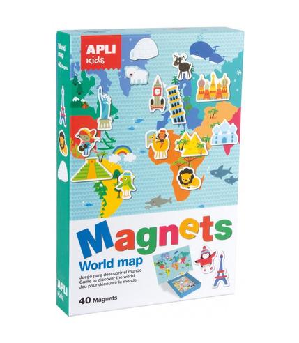 Apli Kids, Magnetyczna układanka - Mapa świata