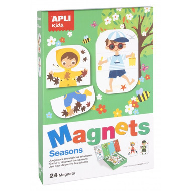 Apli Kids, Magnetyczna układanka - Pory roku