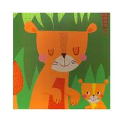 Apli Kids, Mini zestaw z magnesami - Dżungla