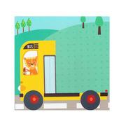Apli Kids, Mini zestaw z magnesami - Miasto