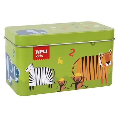Apli Kids, Domino w metalowym pudełku - Zwierzęta i liczby