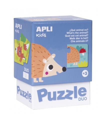 Apli Kids, Puzzle dwuczęściowe - Jakie to zwierzątko? 3+