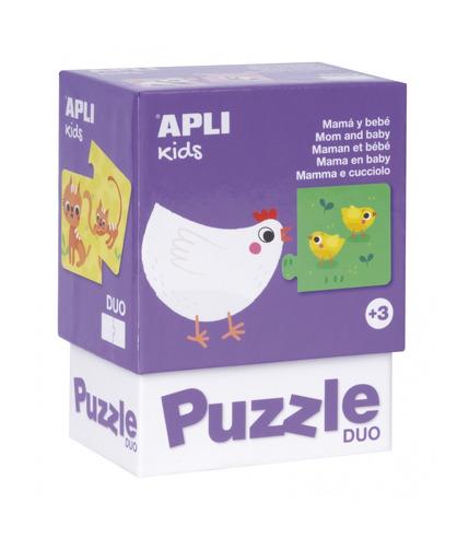 Apli Kids, Puzzle dwuczęściowe - Mamy i ich dzieci 3+