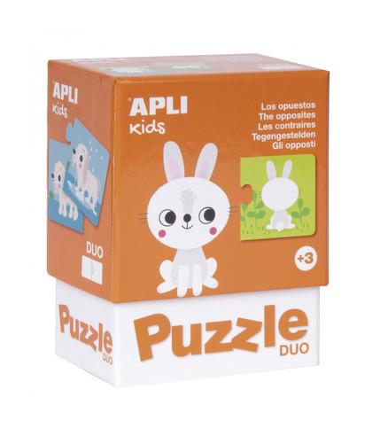 Apli Kids, Puzzle dwuczęściowe - Przeciwieństwa 3+