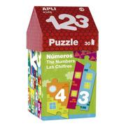 Apli Kids, Puzzle w kartonowym domku - Cyfry 3+