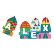 Apli Kids, Puzzle w kartonowym domku - Litery 3+
