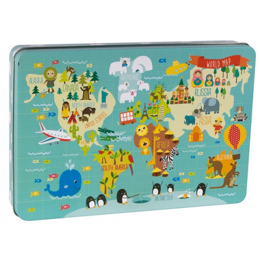 Apli Kids, Puzzle XL - Mapa świata 3+