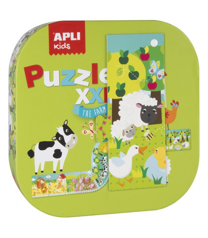 Apli Kids, Puzzle XXL - Farma 3+