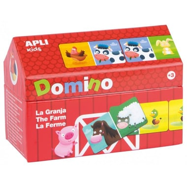 Apli Kids, Domino w kartonowym domku - Farma